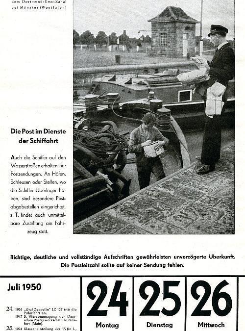 """24. Juli 1950 – """"Die Post im Dienste der Schiffahrt"""""""