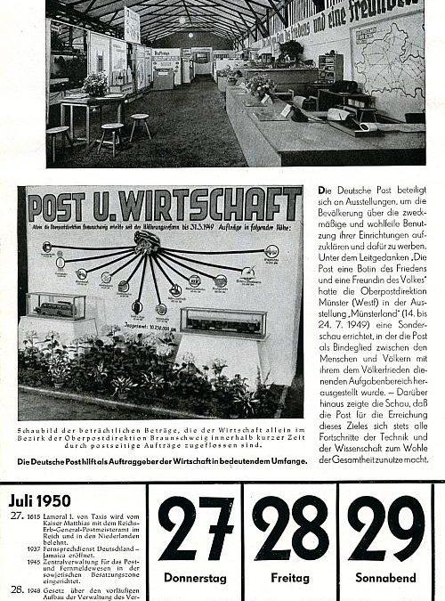"""27. Juli 1950 – """"Post und Wirtschaft"""""""