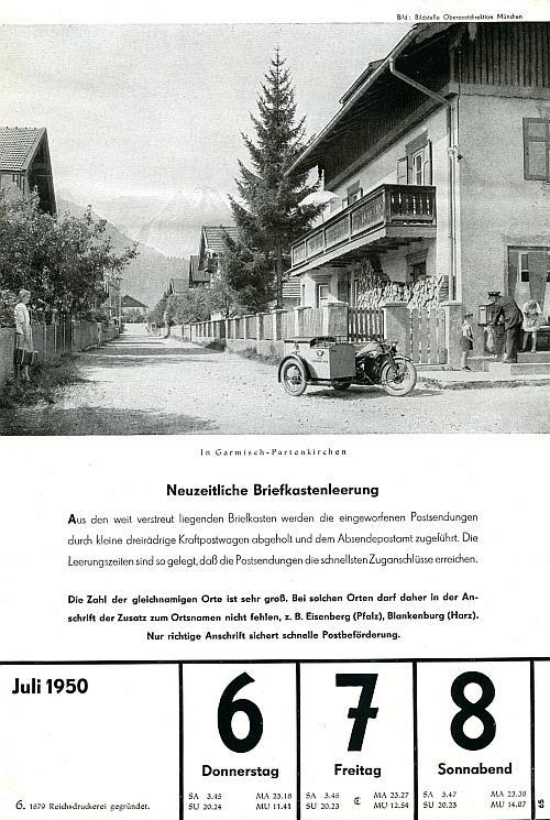 7 juli 1950 neuzeitliche briefkastenleerung dgpt. Black Bedroom Furniture Sets. Home Design Ideas
