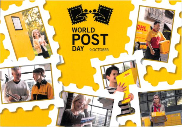 Postkarte zum Weltposttag