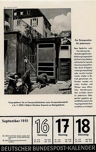 Quelle: Deutscher Bundespost-Kalender, 1951