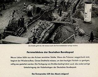 8. September 1951: Fernmeldebau der Deutschen Bundespost