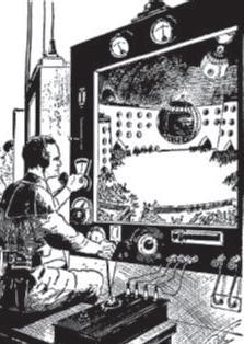 Ein unbemanntes Flugobjekt als Zukunftsvision: In einer Science-Fiction-Erzählung, die im Jahr 2419 spielt, ist der Held Buck Rogers umgeben von Anti-Gravitations-Gürteln, Strahlenpistolen, Robotern und Raumgleitern