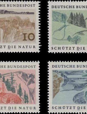 Sondermarken zum europäischen Naturschutzjahr 1970 (mehrfarbiger Stichtiefdruck von einer Platte, Offset-Unterdruck, 1969), Entwurf Otto Rohse