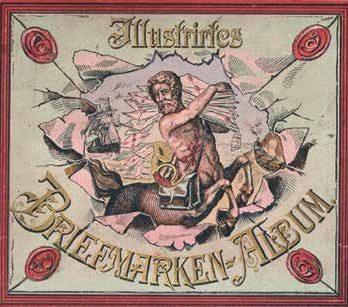 Das Schwaneberger Briefmarkenalbum zeigt einen Kentaur als Personifikation der Philatelie