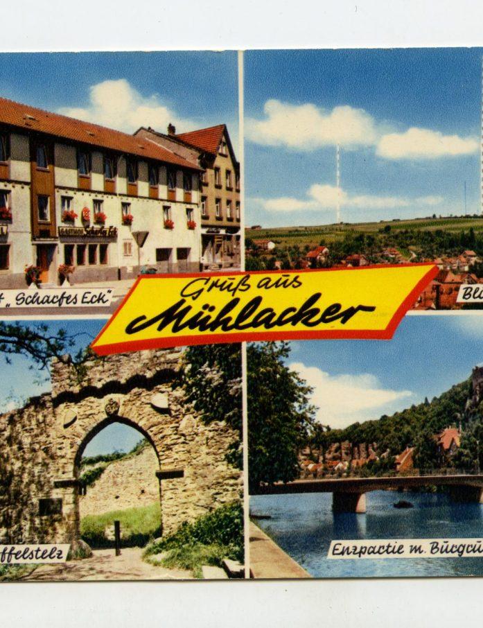 Die Postkarte zeigt den landschaftlichen Charme der Gegend
