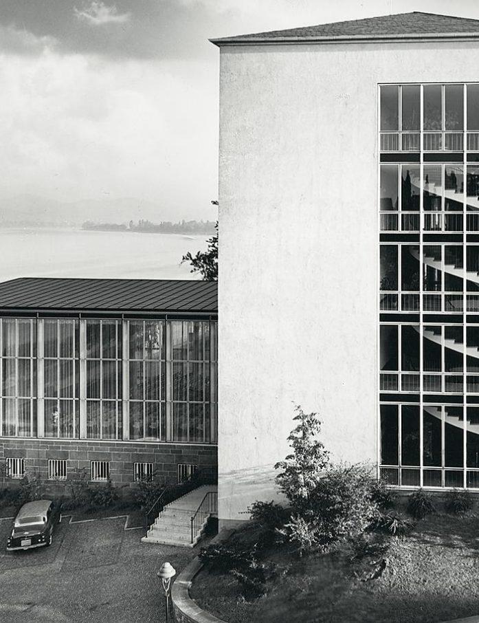 Das neue Ministerium mit Blick auf den Rhein und das Siebengebirge