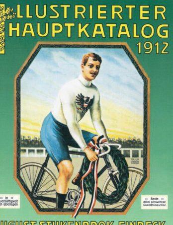 """August Stukenbrok war ein Pionier des Versandhandels in Deutschland; Fahrräder, die erselbst produzierte, nebst Zubehör, gingen von Einbeck aus zu den Kunden – die sich nichtzuletzt durch radelnde Briefträger animieren ließen, einen """"Drahtesel"""" anzuschaffen"""