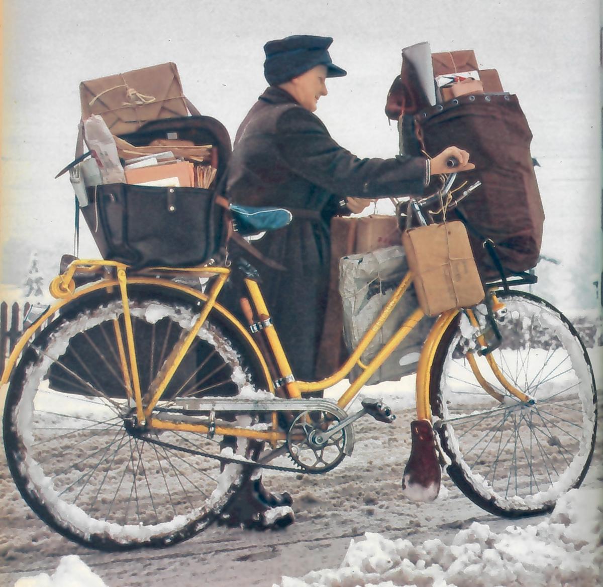 Schwer bepackt durch den Schnee, 1962