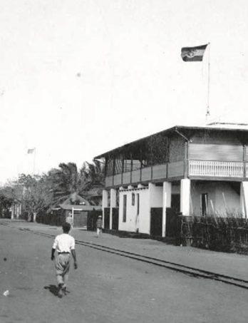 Das Postamt auf der Hamburger Straße in Lomé, 1900