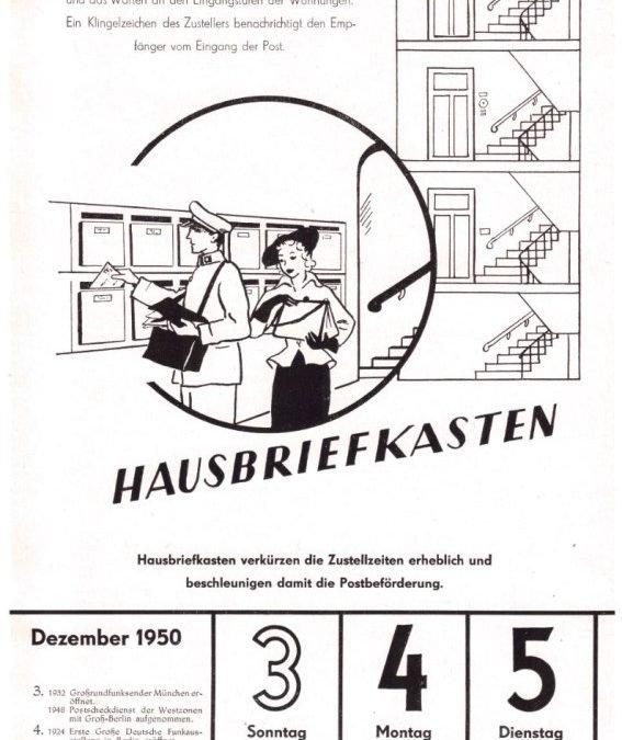 Ein Briefkasten für jedes Haus