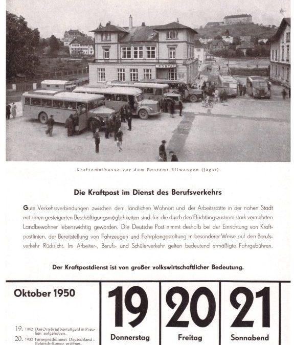 Kraftpost vor 70 Jahren