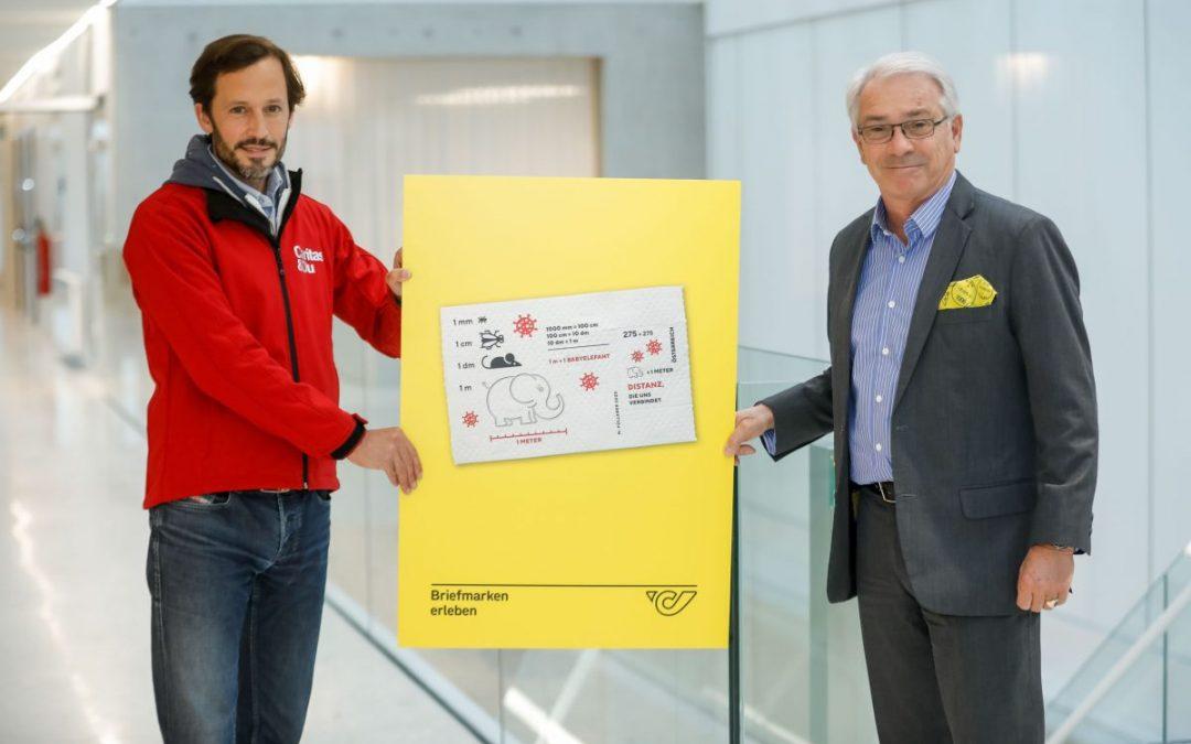 Die Österreichische Post bringt Corona-Briefmarke aus Toilettenpapier heraus