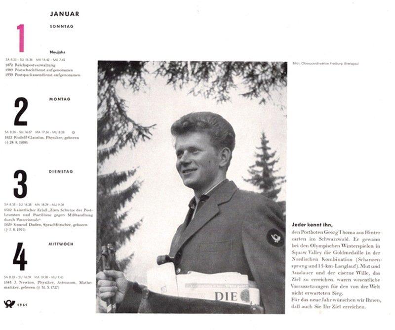 Blick zurück: Georg Thoma im Postkalender 1961