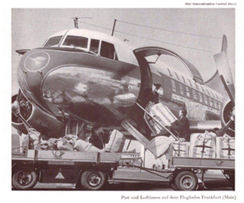 1. April 1955: Start des Luftpostdienstes mit der Lufthansa