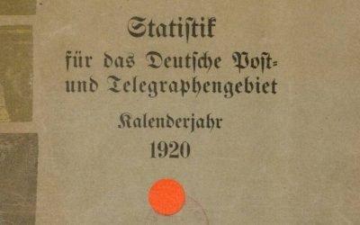 Die Post vor 100 Jahren