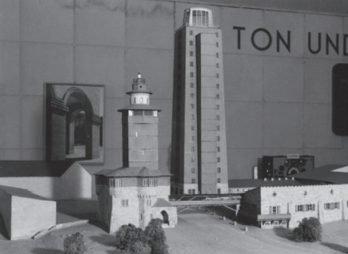 Modell des Senders auf dem Feldberg